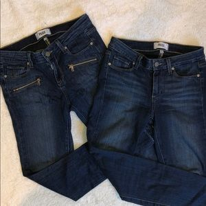 BUNDLE OF 2 Paige skinny jeans size 27
